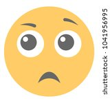 astonished emoji flat vector... | Shutterstock .eps vector #1041956995