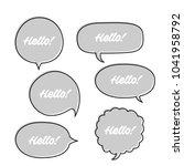trendy speech bubbles set in...   Shutterstock .eps vector #1041958792