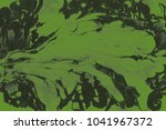 green wet abstract paint leaks... | Shutterstock . vector #1041967372