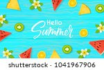 hello summer beautiful web... | Shutterstock .eps vector #1041967906