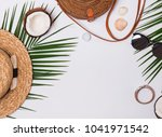 summer related items on the...   Shutterstock . vector #1041971542