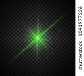 green glowing lights on... | Shutterstock . vector #1041977326