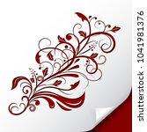 decorative floral branch.... | Shutterstock .eps vector #1041981376