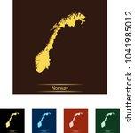 map of norway | Shutterstock .eps vector #1041985012