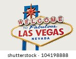 las vegas welcome sign isolated ... | Shutterstock . vector #104198888