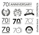 70 years anniversary icon set.... | Shutterstock .eps vector #1041989626