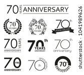 70 years anniversary icon set.... | Shutterstock .eps vector #1041989626