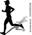 runner silhouette. run vector | Shutterstock .eps vector #1042000108