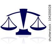Justice Scales   Vector Blue...