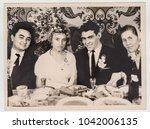 krivoy rog  ussr   circa 1970 ... | Shutterstock . vector #1042006135