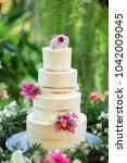 wedding cake wedding ideas... | Shutterstock . vector #1042009045
