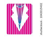 retro striped shirt and necktie ...   Shutterstock .eps vector #1042015432