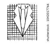 retro checkered shirt and...   Shutterstock .eps vector #1042017766