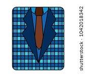 retro checkered shirt and...   Shutterstock .eps vector #1042018342