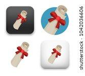 flat vector icon   illustration ... | Shutterstock .eps vector #1042036606