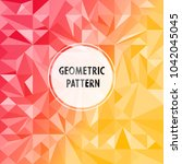 asymmetric pattern with... | Shutterstock .eps vector #1042045045