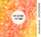 vector asymmetric pattern with... | Shutterstock .eps vector #1042045048