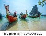 krabi thailand 3 feb 2018 ... | Shutterstock . vector #1042045132