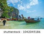 krabi thailand 3 feb 2018 ... | Shutterstock . vector #1042045186