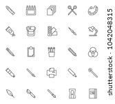 design tools outline icons set. ... | Shutterstock .eps vector #1042048315