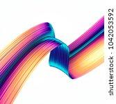 3d render abstract background....   Shutterstock . vector #1042053592