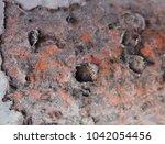 zinc rust closeup  metal rust... | Shutterstock . vector #1042054456