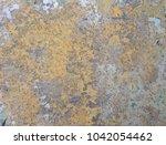 zinc rust closeup  metal rust... | Shutterstock . vector #1042054462