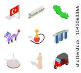 worldwide adventure icons set.... | Shutterstock .eps vector #1042063366