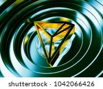 tron. yellow crypto currency... | Shutterstock . vector #1042066426