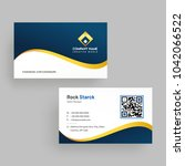 horizontal business card with...   Shutterstock .eps vector #1042066522