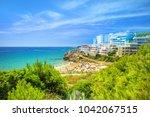 spanish costa dorada resort in... | Shutterstock . vector #1042067515