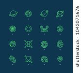 fully editable line icons of... | Shutterstock .eps vector #1042071676