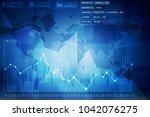 2d rendering stock market...   Shutterstock . vector #1042076275