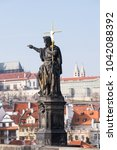 Small photo of Prague, Czech Republic. Charles Bridge (Karluv Most), St Vitus Cathedral.