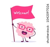 vector illustration of pink... | Shutterstock .eps vector #1042097026