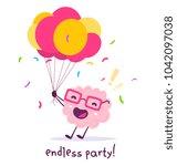 vector illustration of pink... | Shutterstock .eps vector #1042097038