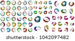logo mega collection  abstract... | Shutterstock .eps vector #1042097482
