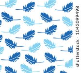 feathers pattern vector | Shutterstock .eps vector #1042099498