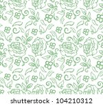 seamless floral background | Shutterstock .eps vector #104210312