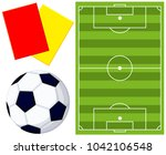 colorfull cartoon soccer ball ... | Shutterstock .eps vector #1042106548