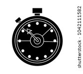 stopwatch flat icon | Shutterstock .eps vector #1042111582