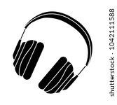 headphone flat icon | Shutterstock .eps vector #1042111588