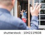 portrait of parent saying... | Shutterstock . vector #1042119838