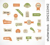 vector stickers  price tag ... | Shutterstock .eps vector #1042122442