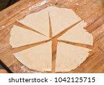 domesticated dough cut for... | Shutterstock . vector #1042125715