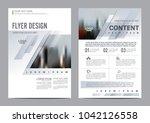 minimal flyer design template.... | Shutterstock .eps vector #1042126558