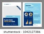 blue business brochure concept... | Shutterstock .eps vector #1042127386