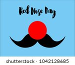 Flat Illustration. Red Nose An...
