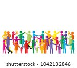 colorful abstract pictograms... | Shutterstock .eps vector #1042132846