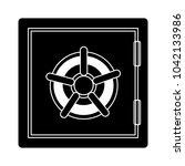 vector safe bank icon  ... | Shutterstock .eps vector #1042133986